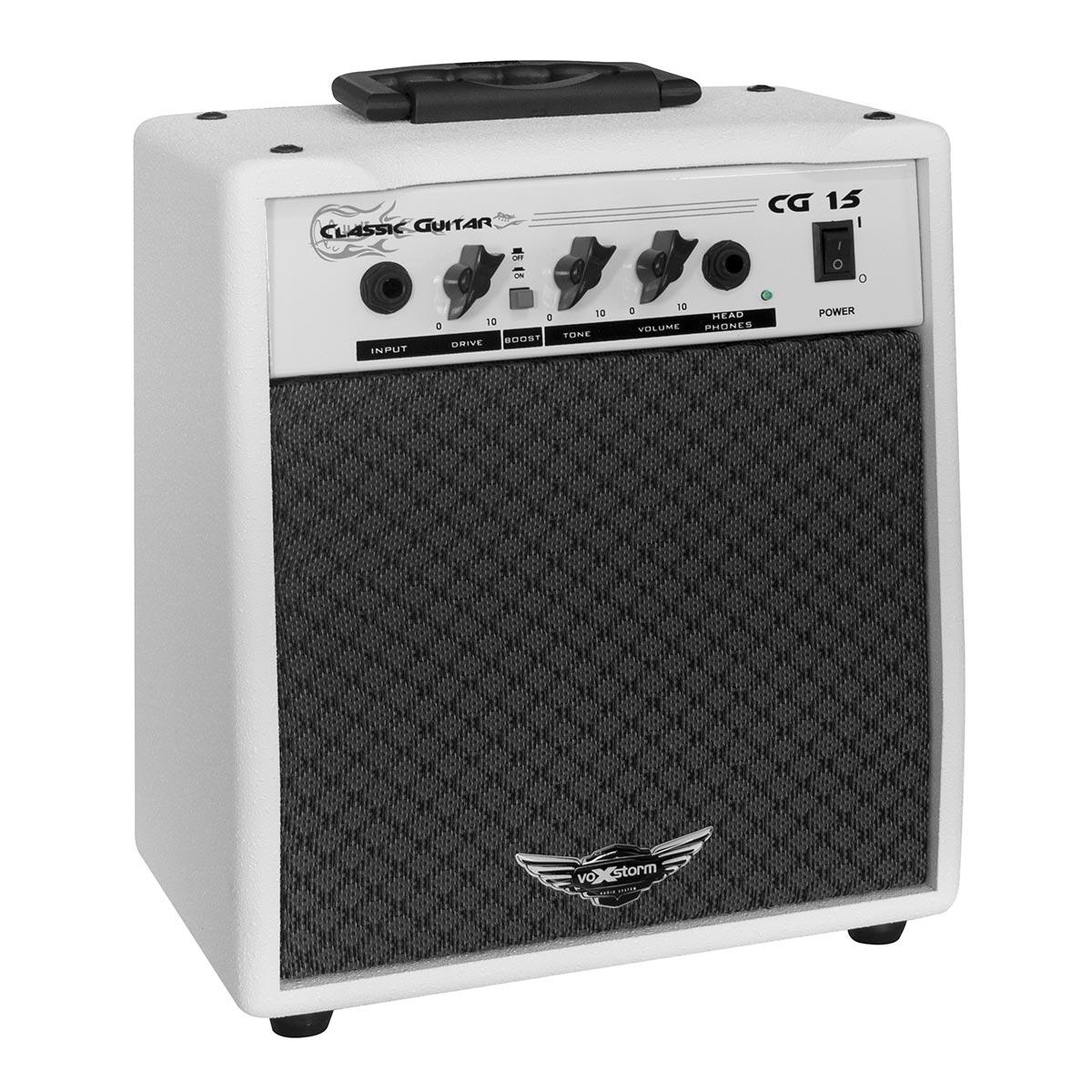 CG15 - Amplificador Combo p/ Guitarra 15W Classic Guitar CG 15 Branco - Voxstorm