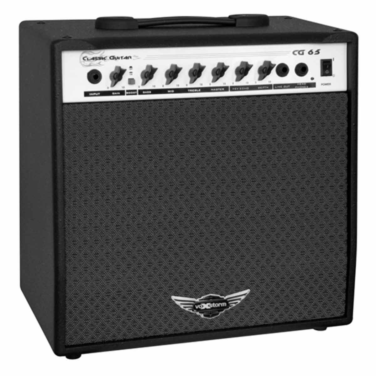 CG65 - Amplificador Combo p/ Guitarra 40W Classic Guitar CG 65 Preto - Voxstorm