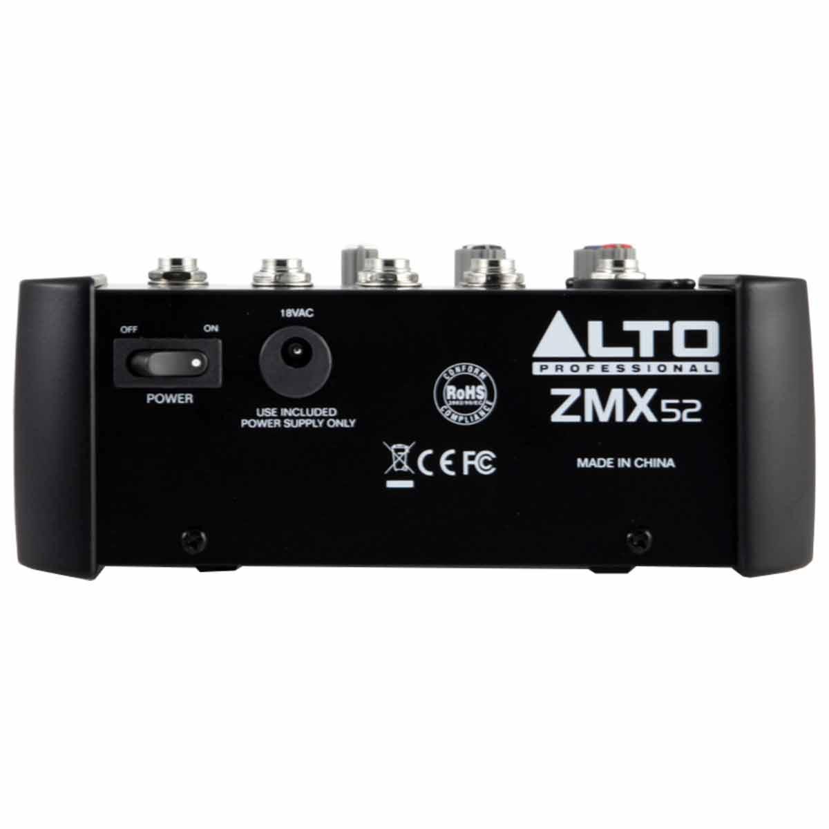 ZMX52 - Mesa de Som / Mixer 5 Canais ZMX 52 - Alto