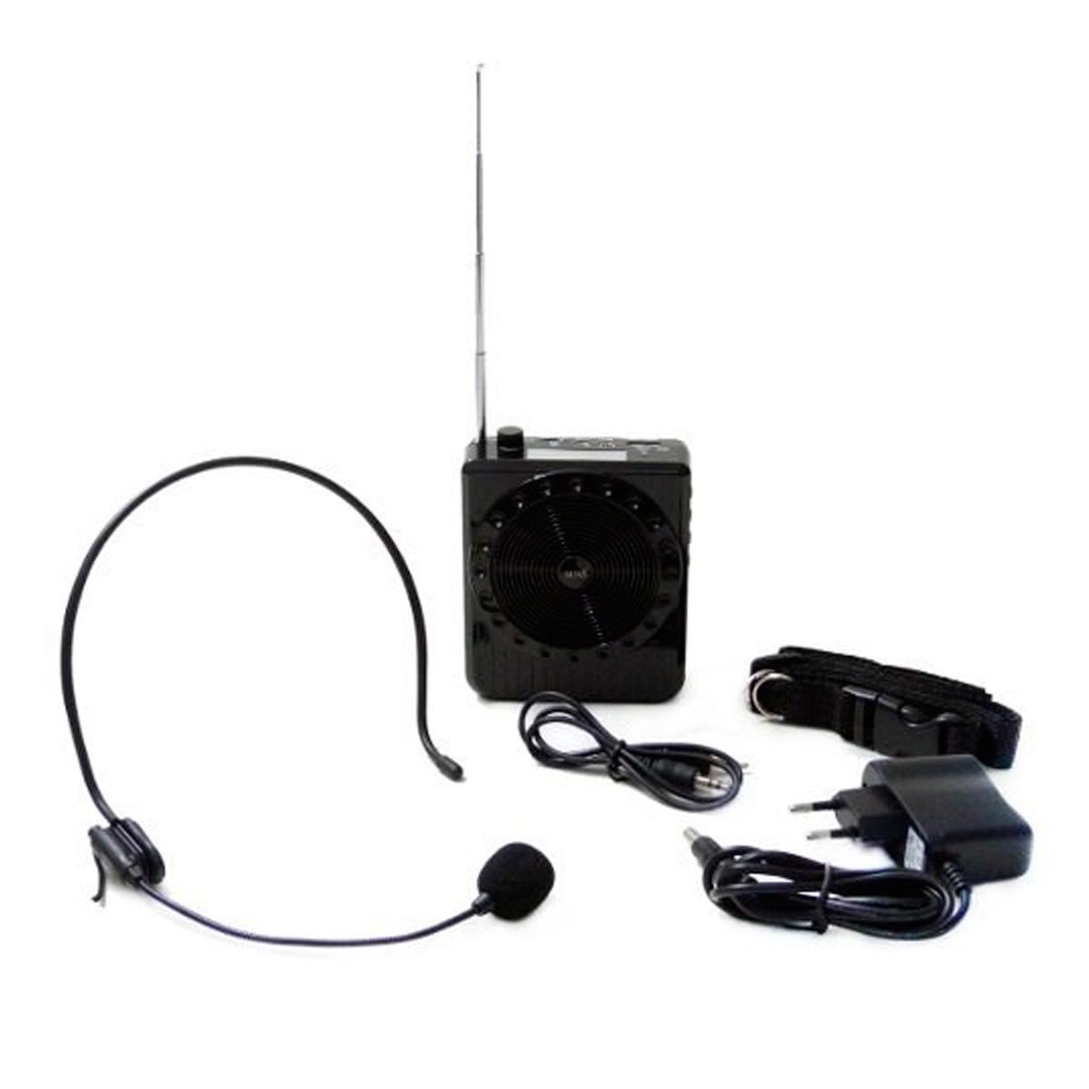 BQ810 - Kit Professor Portátil c/ Caixa + Microfone c/ Fio BQ 810 Preto - Boas