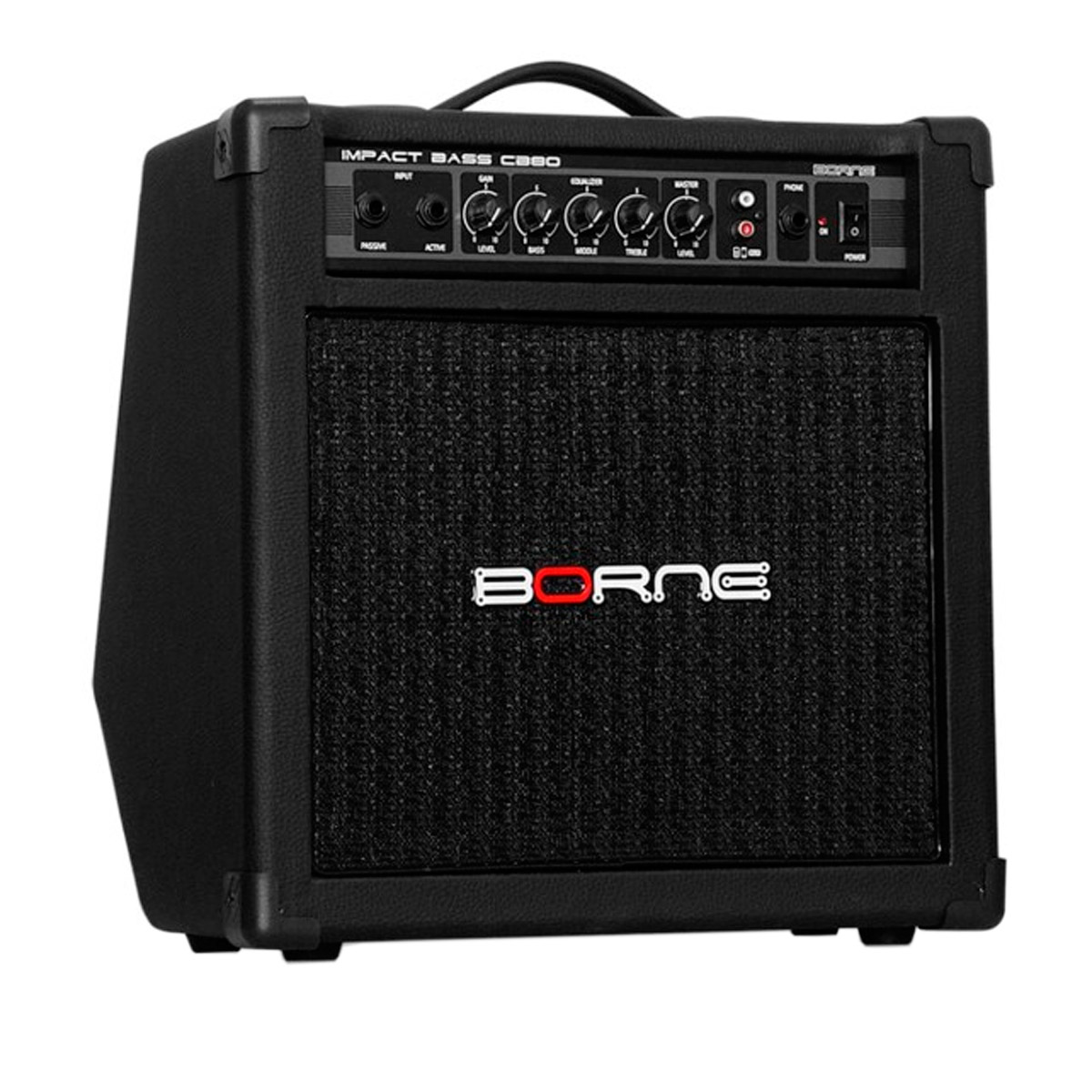 CB80 - Amplificador Combo p/ Contrabaixo 30W Impact Bass CB 80 - Borne