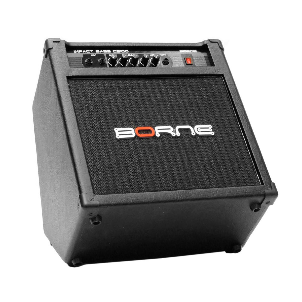 CB100 - Amplificador Combo p/ Contrabaixo 70W Impact Bass CB 100 - Borne