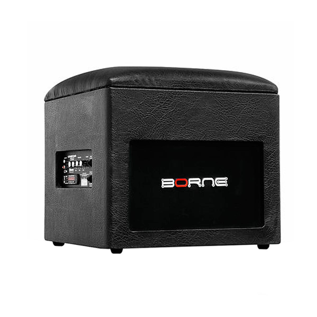 Caixa Ativa 60W c/ Bluetooth e USB Lounge Cube Preta - Borne