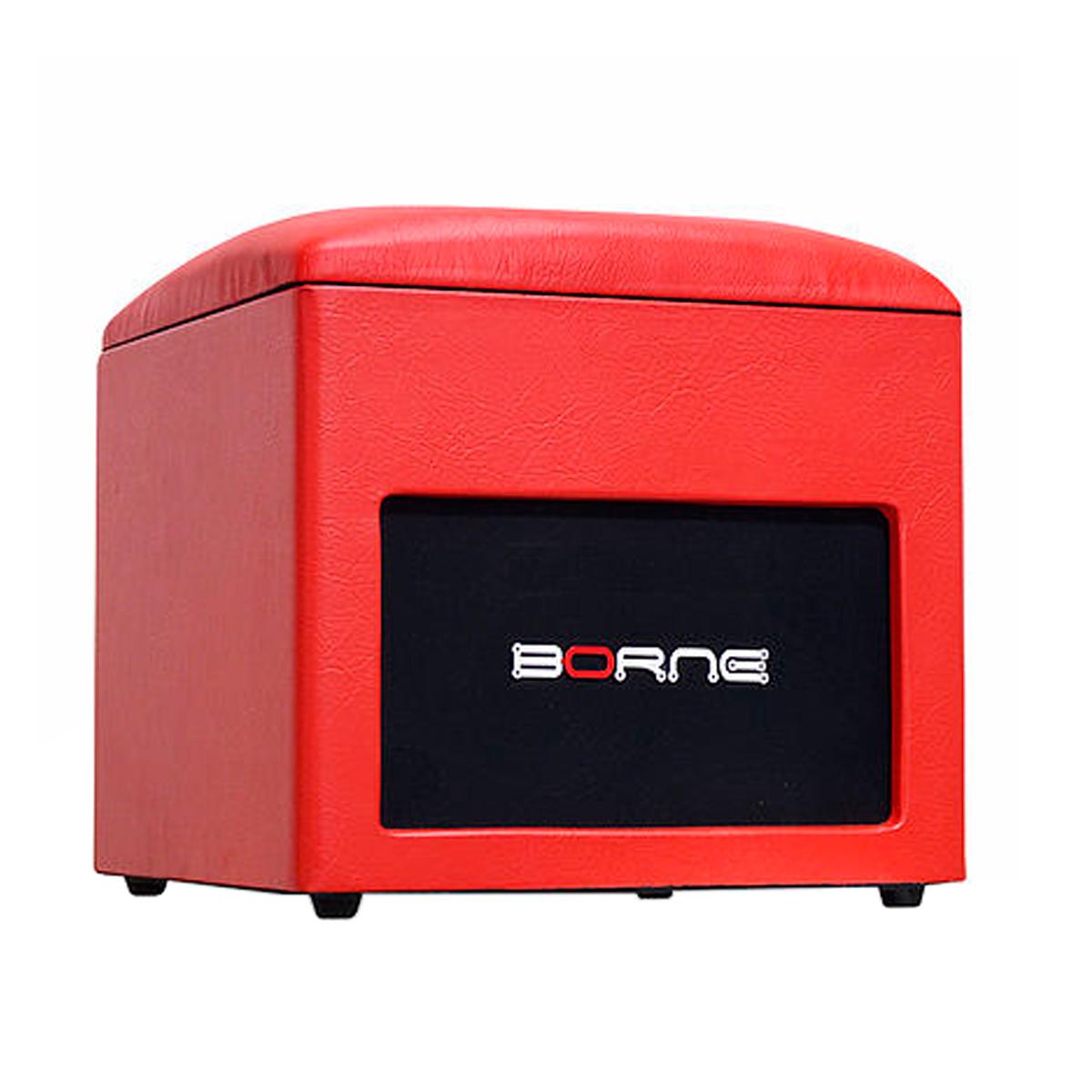 Caixa Ativa c/ Bluetooth e USB Lounge Cube Vermelha - Borne