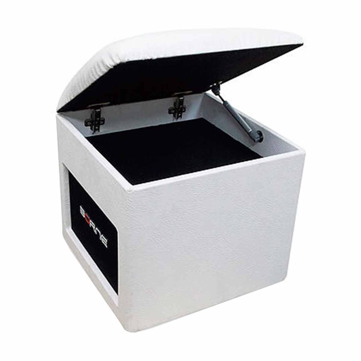 Caixa Ativa c/ Bluetooth e USB Lounge Cube Branca - Borne