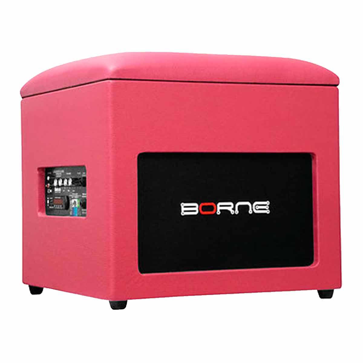 Caixa Ativa c/ Bluetooth e USB Lounge Cube Rosa - Borne