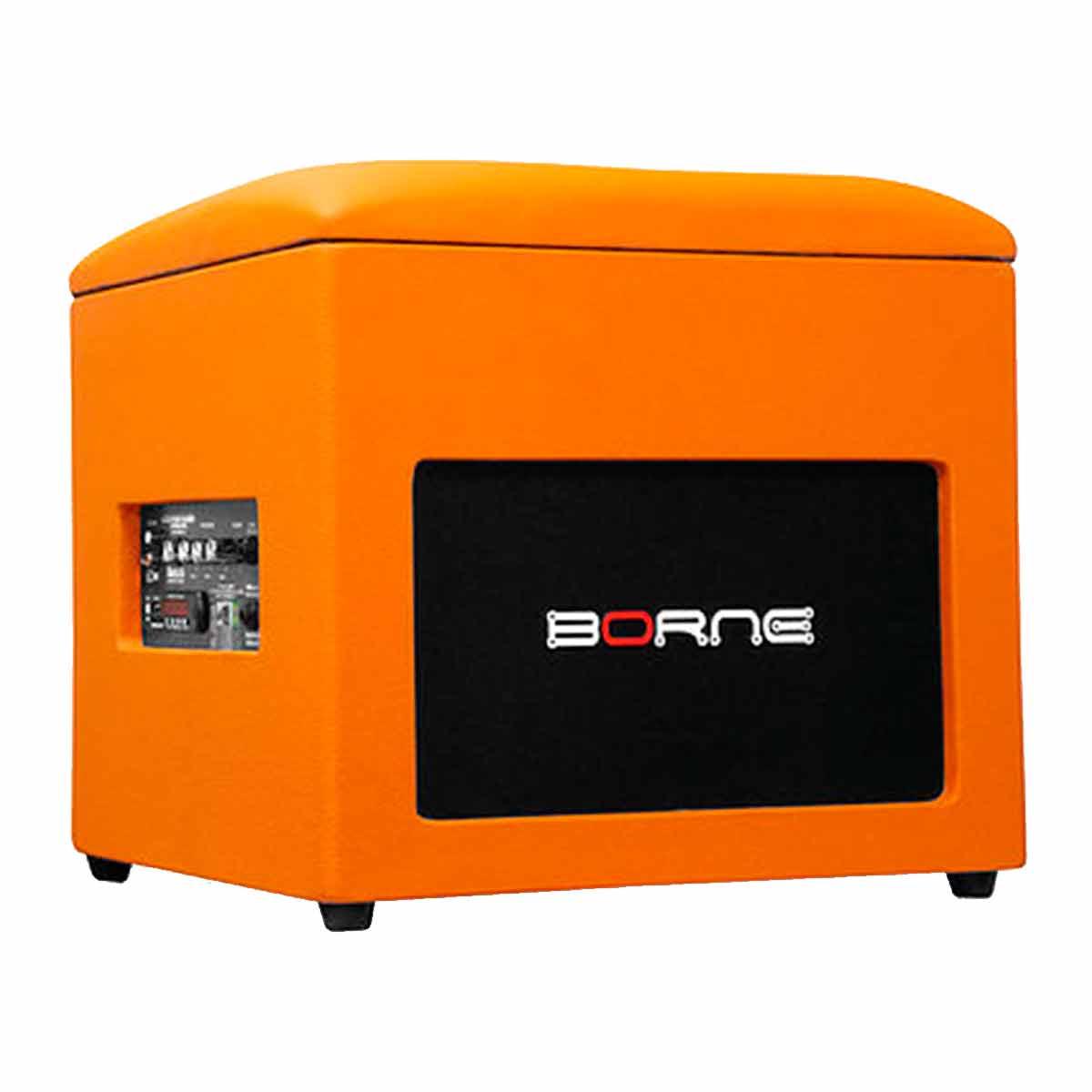 Caixa Ativa c/ Bluetooth e USB Lounge Cube Laranja - Borne