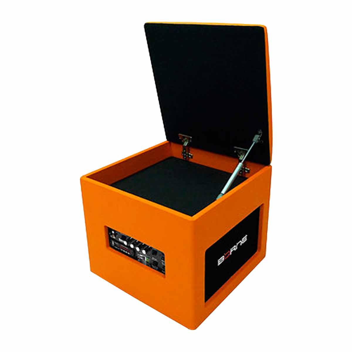 Caixa Ativa 60W c/ Bluetooth e USB Lounge Cube Laranja - Borne