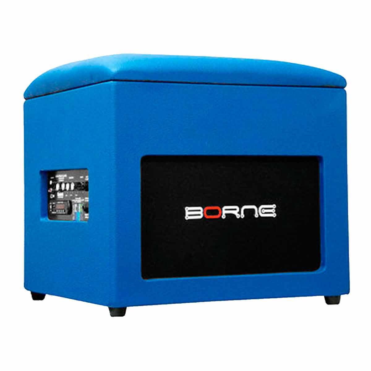 Caixa Ativa c/ Bluetooth e USB Lounge Cube Azul - Borne