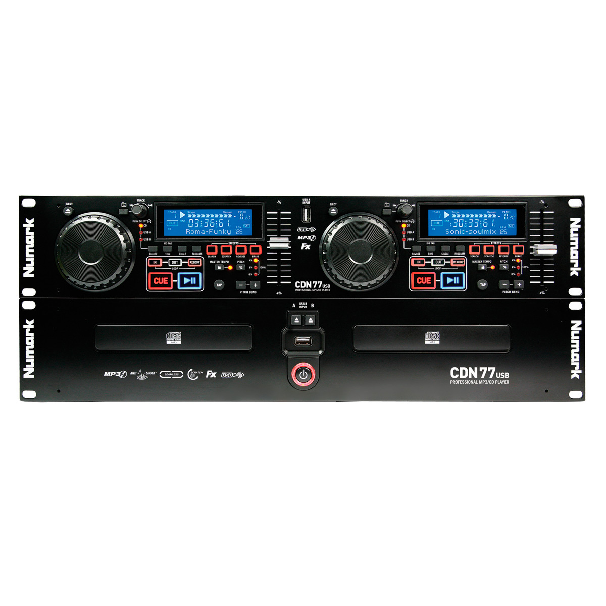 CDN77USB - CDJ Player Duplo c/ USB CDN 77 USB - Numark