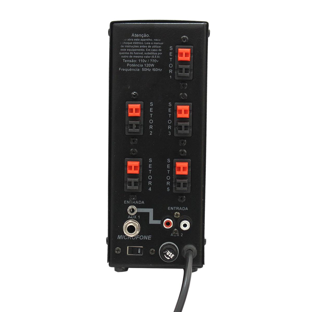 SA5FORT - Amplificador Som Ambiente 60W SA5 FORT - DSK