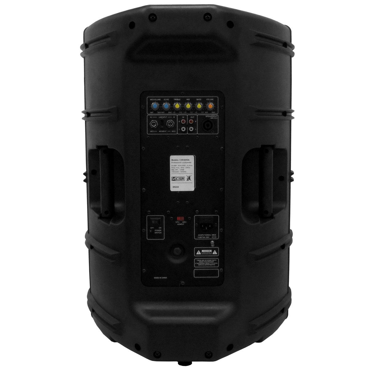 CSR4000A - Caixa CSR 4000 A Ativa 300W com 3 Entradas com Eco
