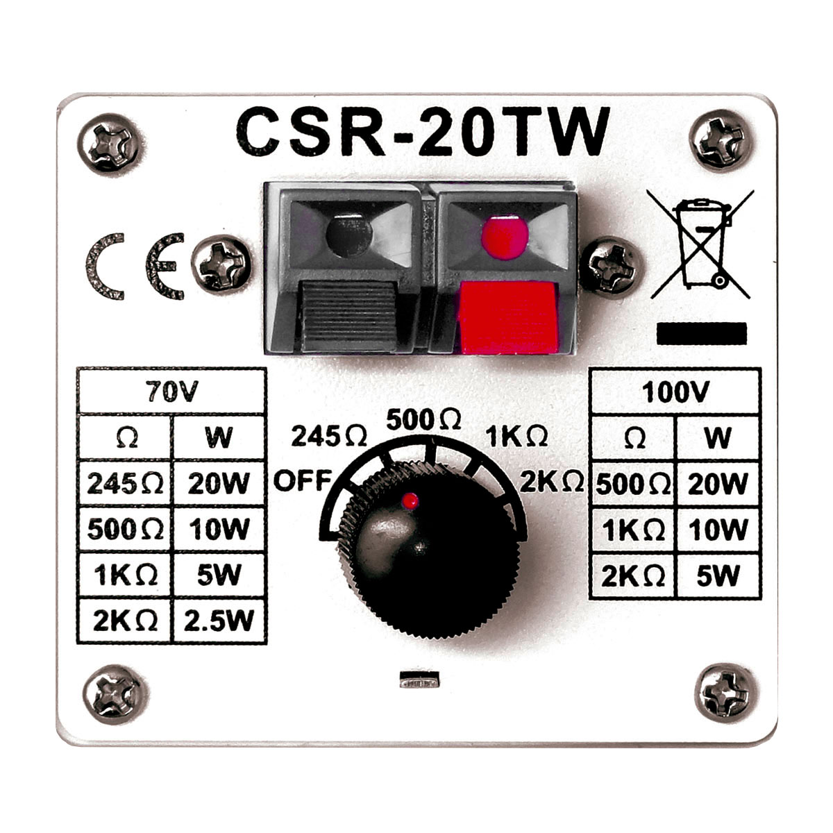 CSR20TW - Caixa Passiva 20W Branca c/ Suporte ( Par ) CSR 20 TW - CSR