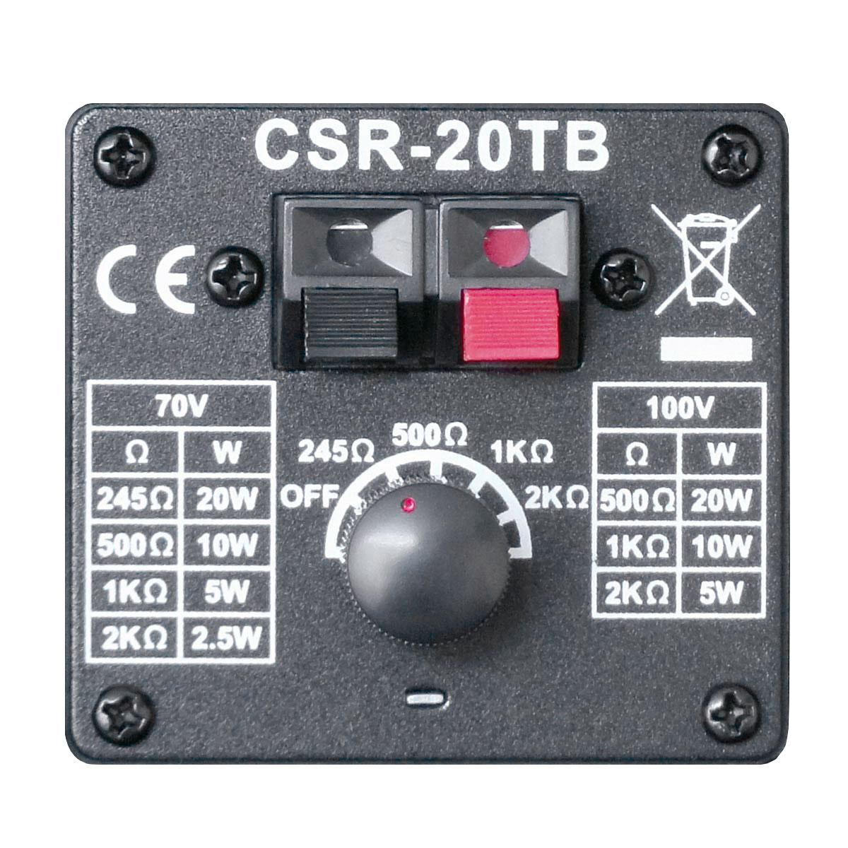 CSR20TB - Caixa Passiva 20W Preta c/ Suporte ( Par ) CSR 20 TB - CSR