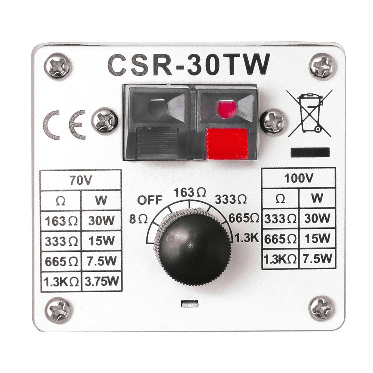 Caixa Passiva p/ Som Ambiente Fal 4 Pol 30W c/ Suporte (Par) - 30 TW CSR