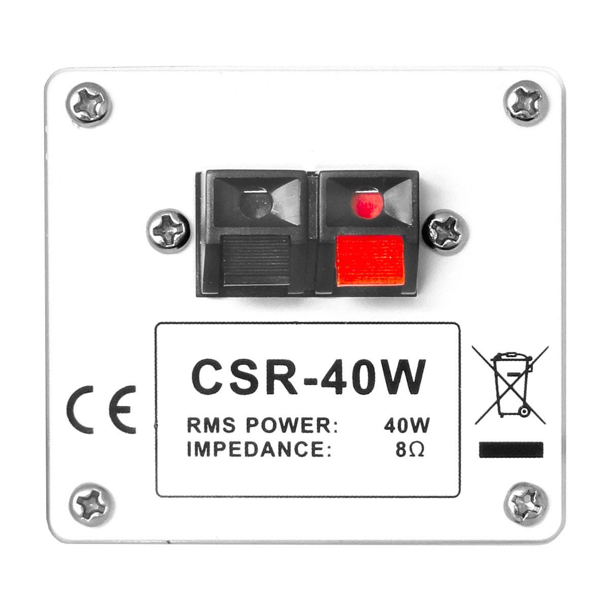 CSR40W - Caixa Passiva 40W Branca c/ Suporte ( Par ) CSR 40 W - CSR