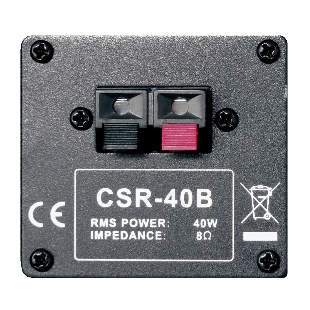 CSR40B - Caixa Passiva 40W Preta c/ Suporte ( Par ) CSR 40 B - CSR