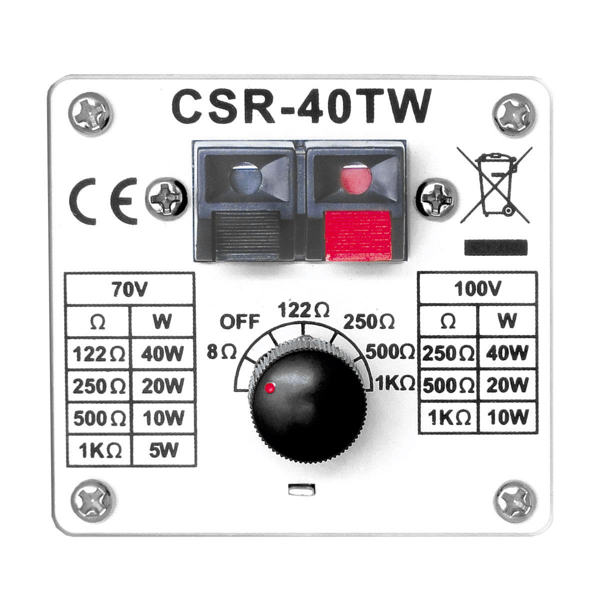 Caixa Passiva p/ Som Ambiente Fal 4 Pol 40W c/ Suporte (Par) - 40 TW CSR