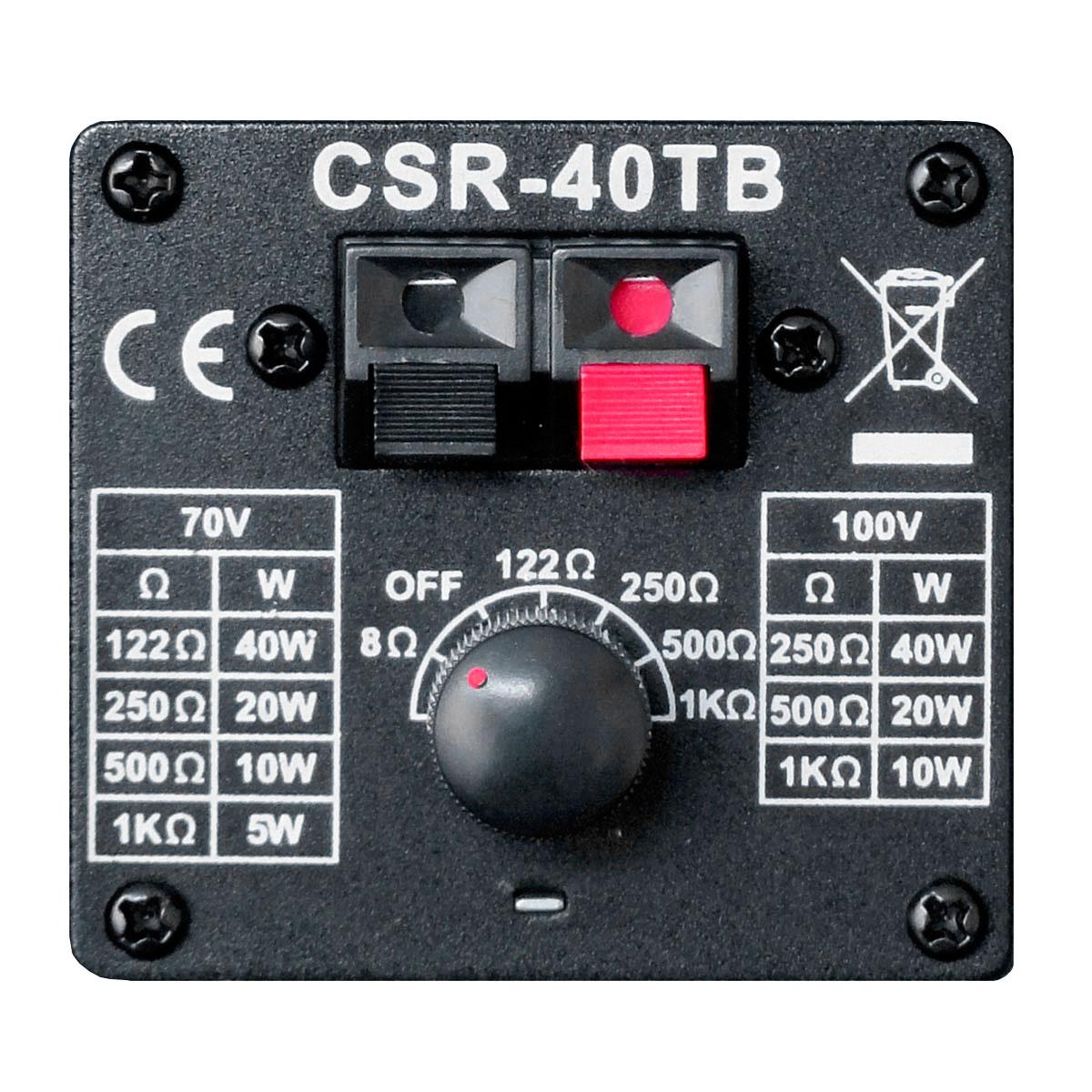 CSR40TB - Caixa Passiva 40W Preta c/ Suporte ( Par ) CSR 40 TB - CSR