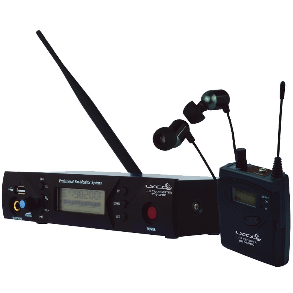 PE640PRO - Ponto Eletrônico UHF s/ Fio c/ USB PE 640 PRO - Lyco