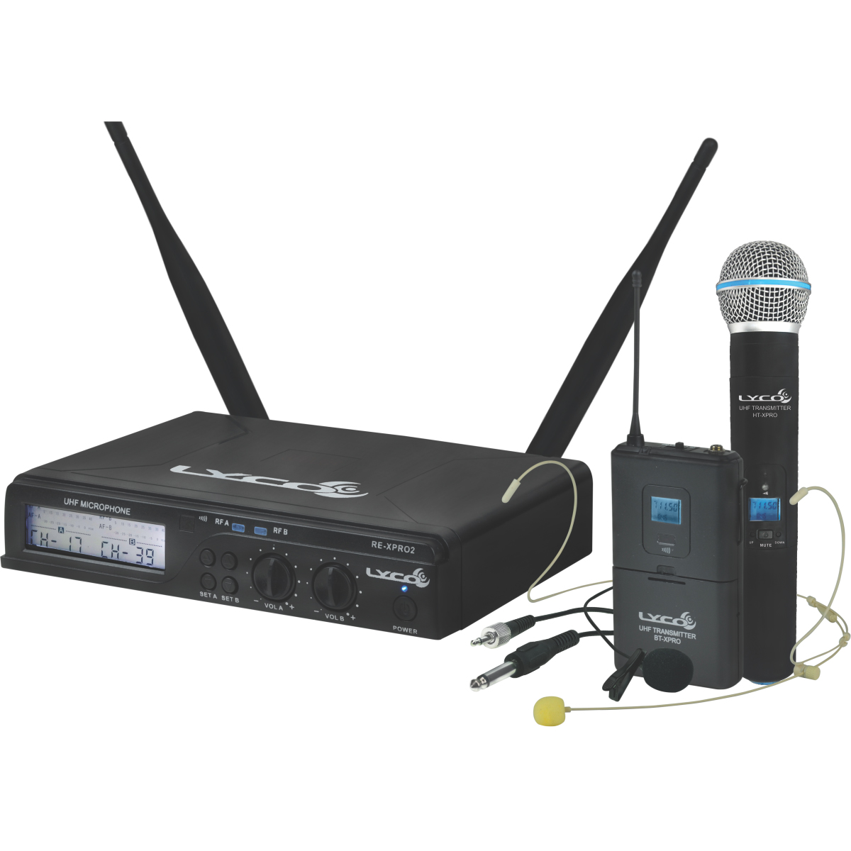 UHXPRO02MHLI - Microfone s/ Fio Headset / Instrumento / Lapela / M�o UHX PRO 02 MHLI - Lyco