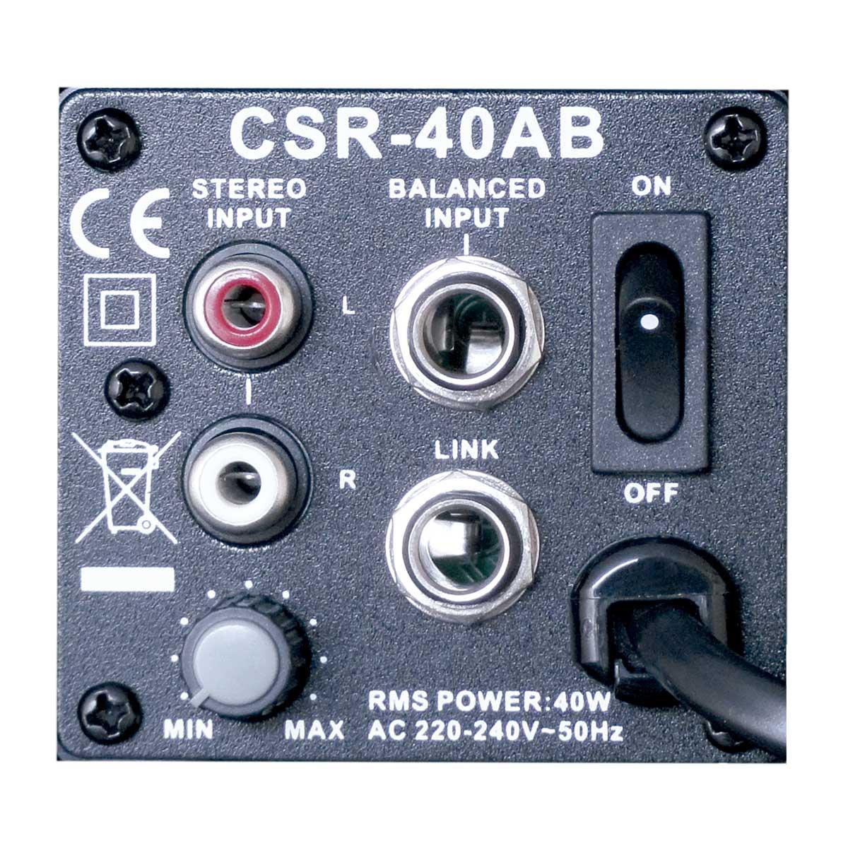 CSR40AB - Caixa Ativa 40W Preta c/ Suporte ( Par ) CSR 40 AB - CSR