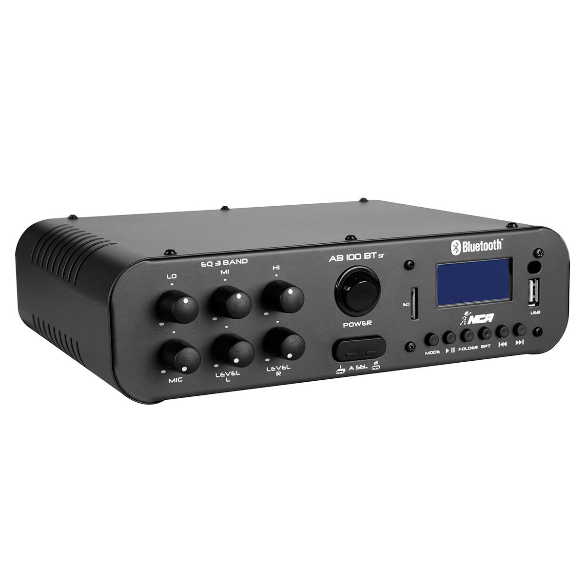 AB100STBT - Amplificador Som Ambiente Estéreo 100W c/ Bluetooth AB 100 ST BT - NCA