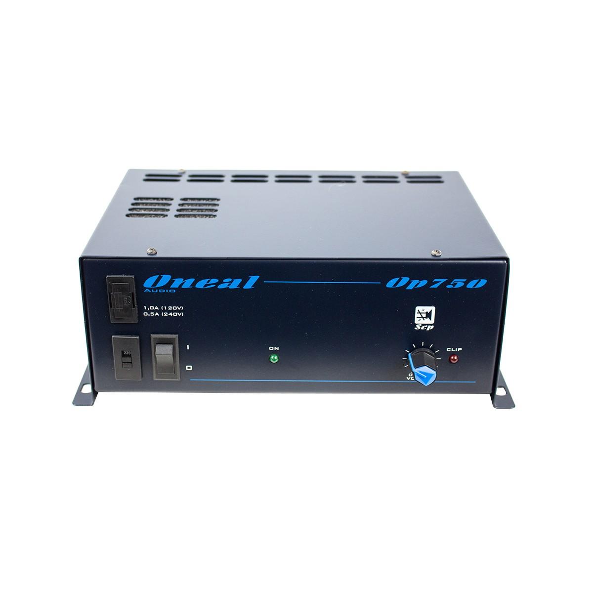 Amplificador 100W ( 4 Ohms ) com 1 Canal de Entrada L/R OP 750 - Oneal