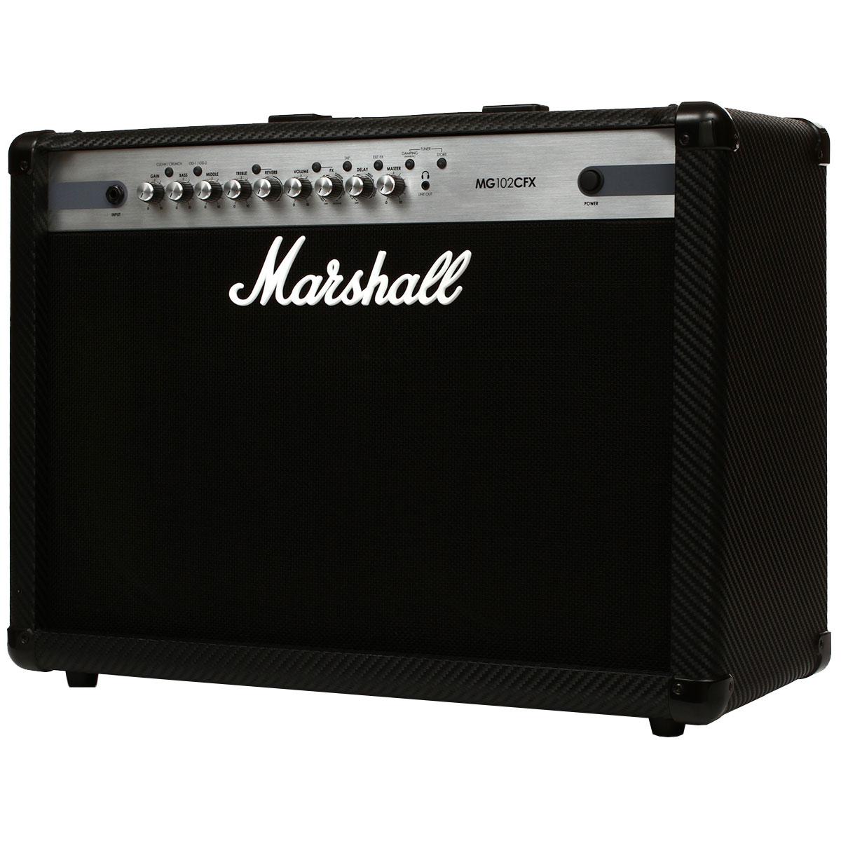 Cubo Ativo p/ Guitarra Fal 2x12 Pol 100W Carbon Fibre - MG 102 CFX Marshall