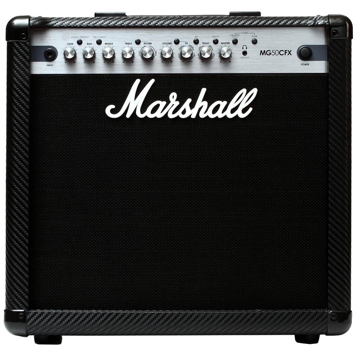 Cubo Ativo p/ Guitarra Fal 12 Pol 50W Carbon Fibre - MG 50 FX Marshall