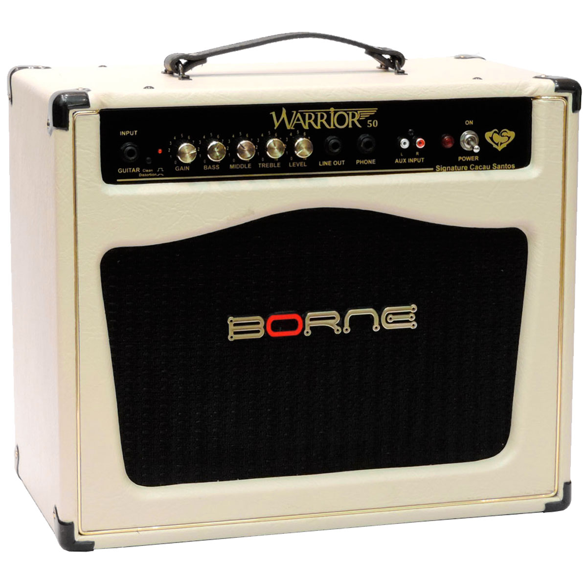 Amplificador Combo p/ Guitarra 50W Warrior 50 Creme - Borne