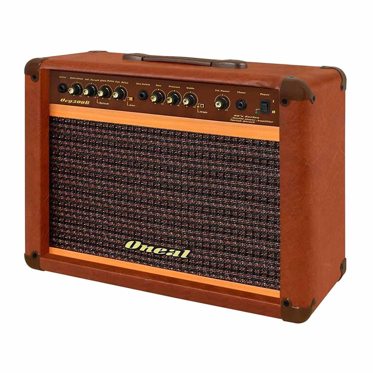 Amplificador Combo p/ Guitarra 60W OCG 300R Marrom - Oneal