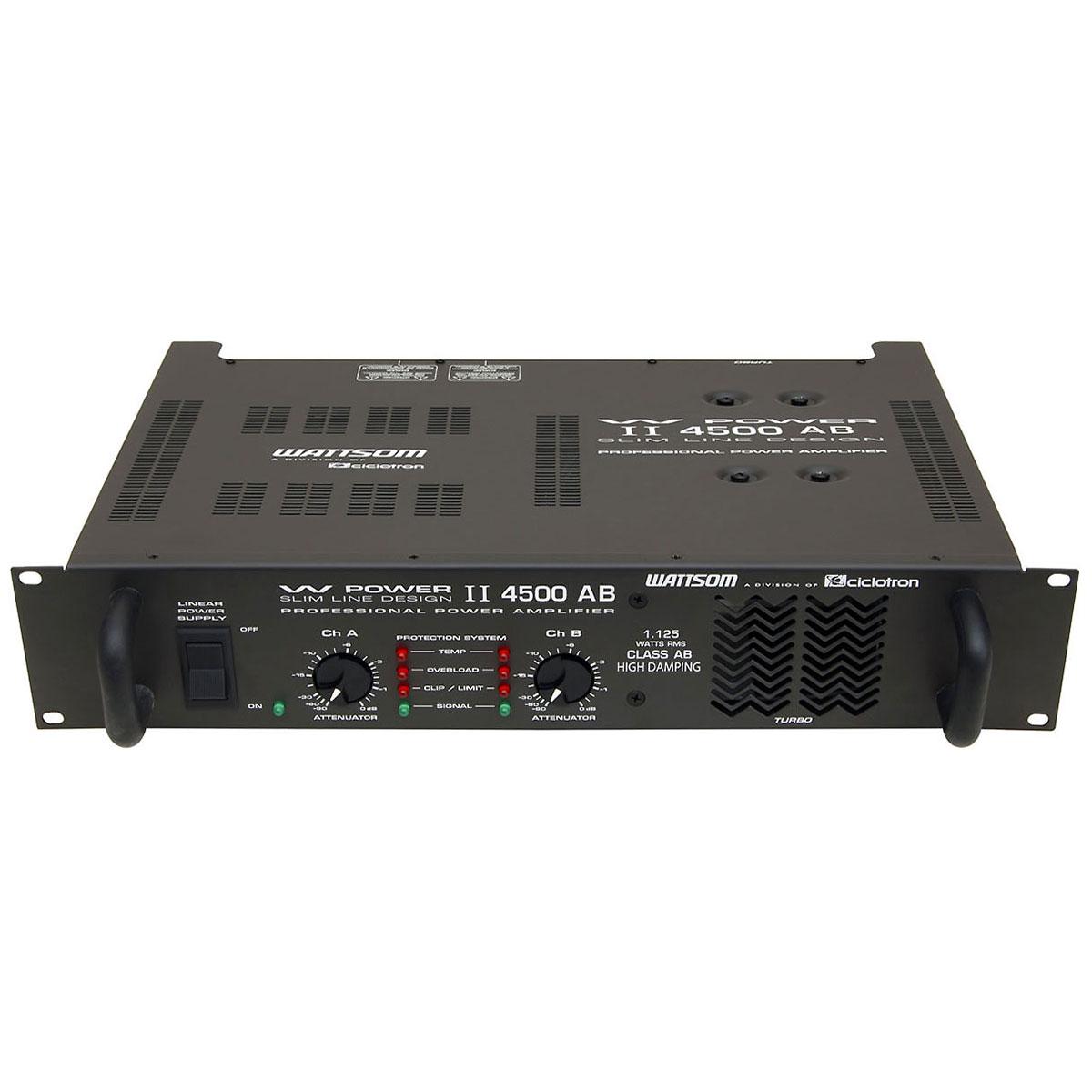 Amplificador Estéreo 2 Canais 1125W RMS ( Total ) W POWER II 4500 AB - Ciclotron