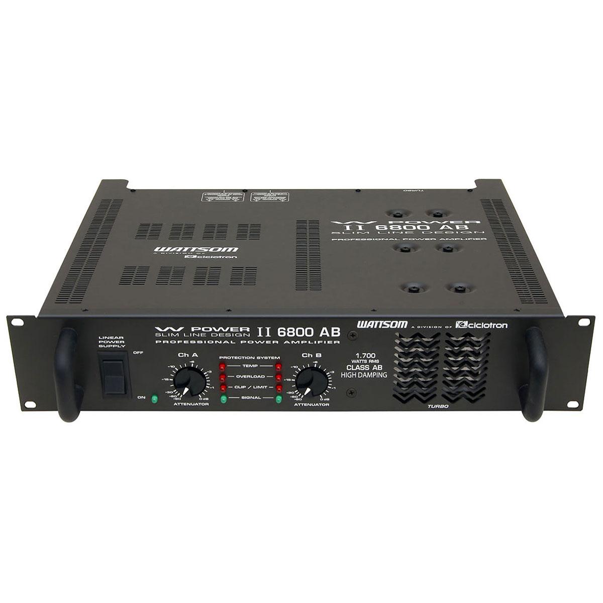 Amplificador Estéreo 2 Canais 1700W RMS ( Total ) W POWER II 6800 AB - Ciclotron