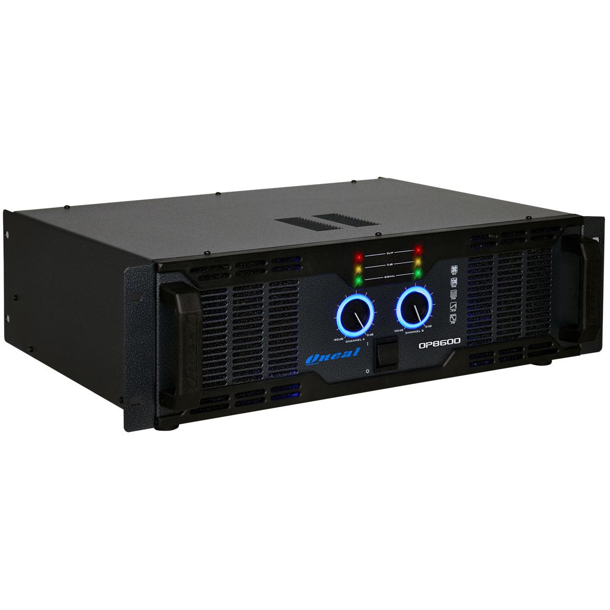Amplificador Estéreo 2 Canais 2000W RMS ( Total ) OP 8600 - Oneal