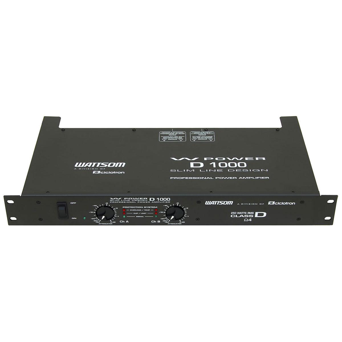 Amplificador Estéreo 2 Canais 250W ( Total ) W Power D 1000 - Ciclotron