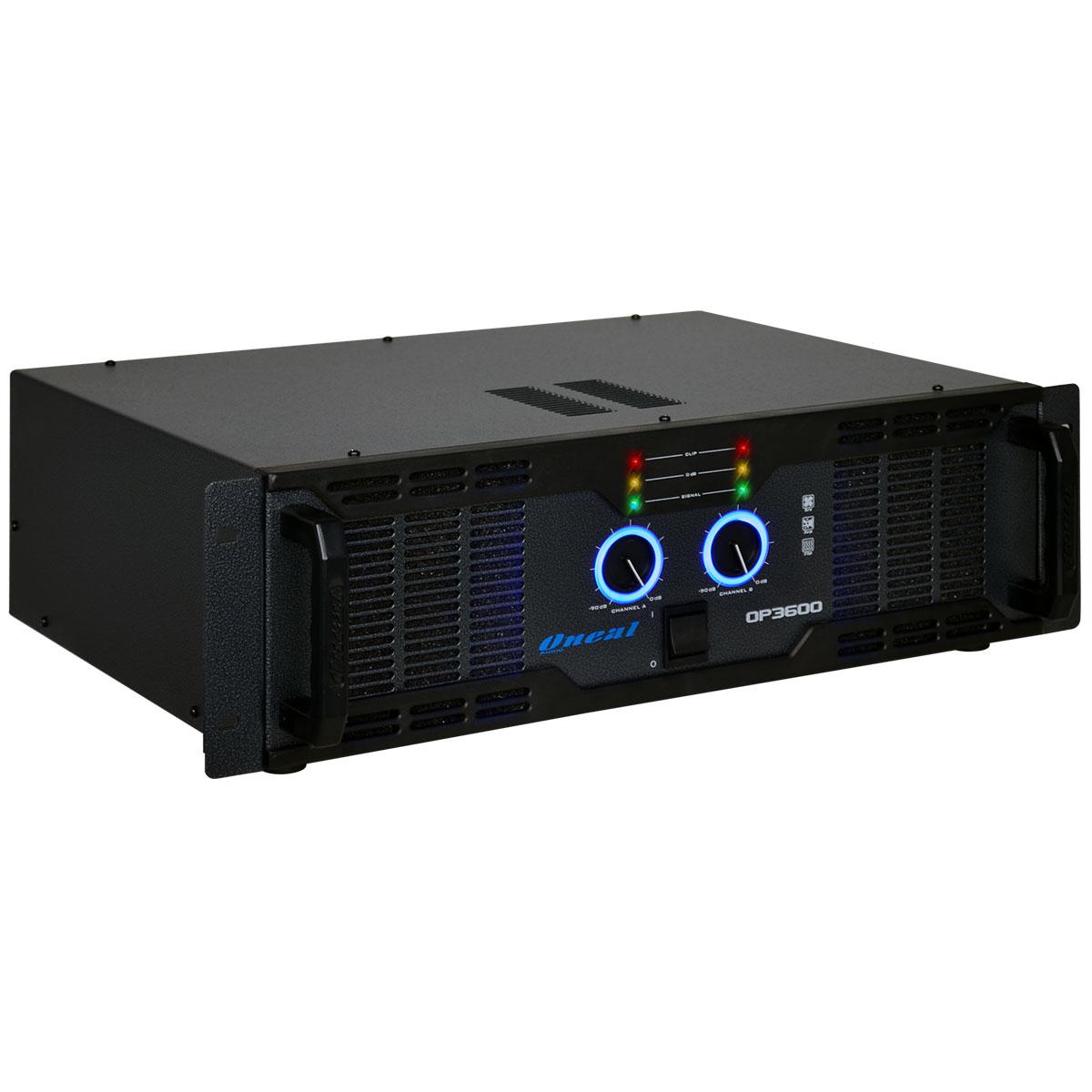 Amplificador Estéreo 2 Canais 700W RMS ( Total ) OP 3600 - Oneal