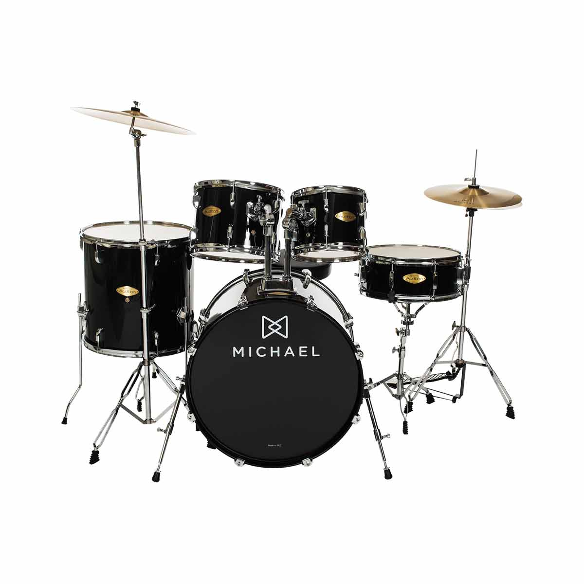 Bateria Ac�stica Bumbo 18 Polegadas Audition DM826 BK Preta - Michael