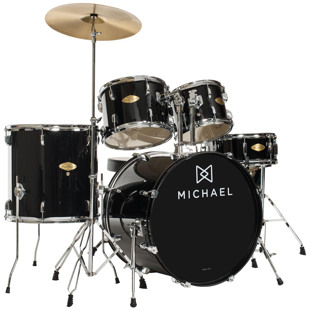 Bateria Acústica Bumbo 18 Polegadas Audition DM826 BK Preta - Michael