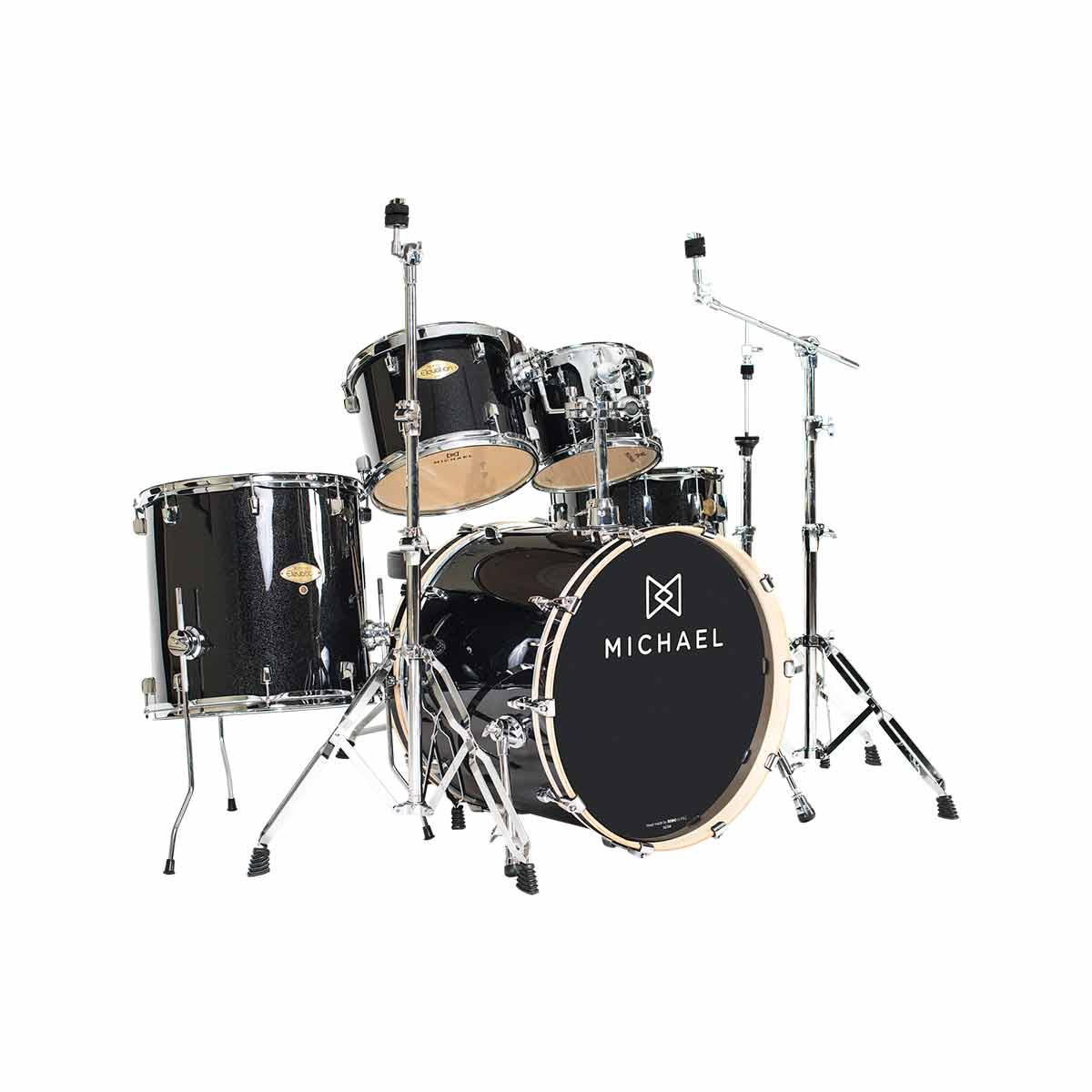 Bateria Ac�stica Bumbo 18 Polegadas Elevation DM851 BKS Preta Sparkle - Michael
