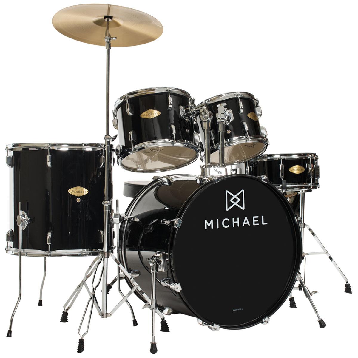 Bateria Acústica Bumbo 20 Polegadas Audition DM827 BK Preta - Michael