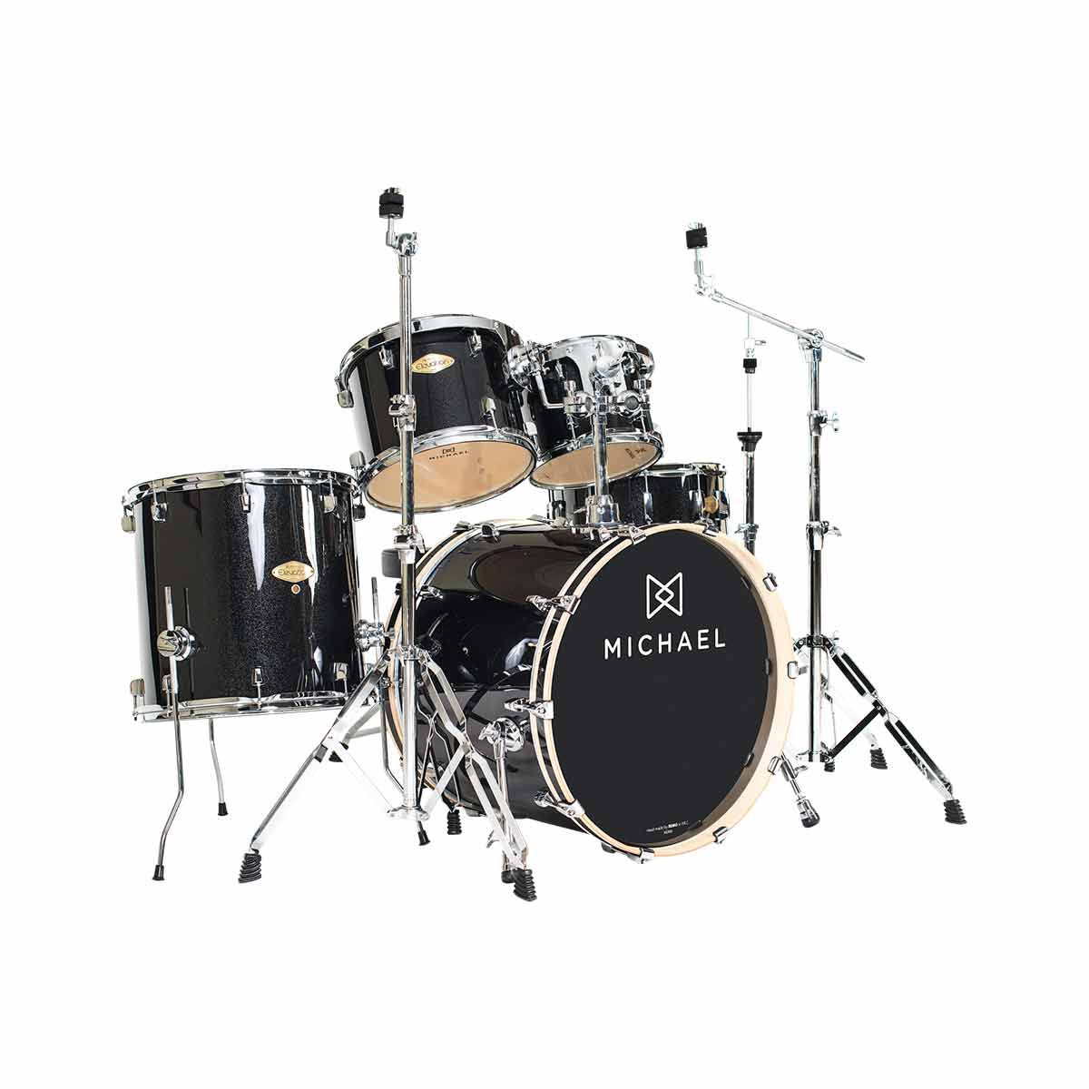 Bateria Ac�stica Bumbo 20 Polegadas Elevation DM852 BKS Preta Sparkle - Michael