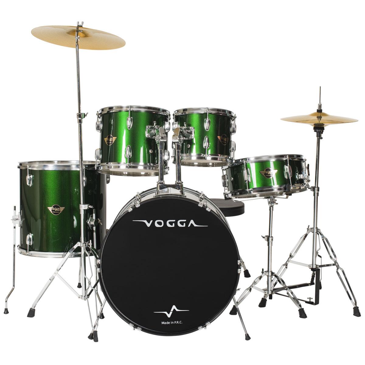 Bateria Ac�stica Bumbo 20 Polegadas Talent VPD920 Verde - Vogga