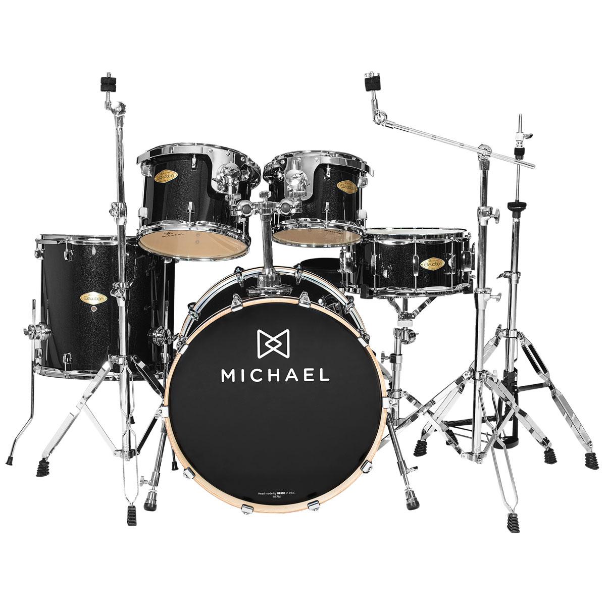 Bateria Acústica Bumbo 22 Polegadas Elevation DM853 BKS Preta Sparkle - Michael