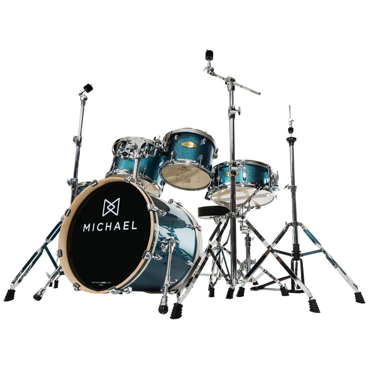 Bateria Acústica Bumbo 22 Polegadas Elevation DM853 BLS Azul Sparkle - Michael