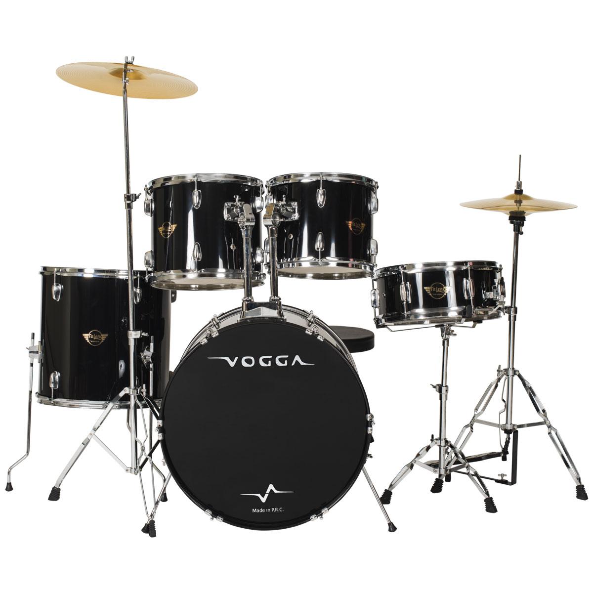 Bateria Acústica Bumbo 22 Polegadas Talent VPD924 Preta - Vogga