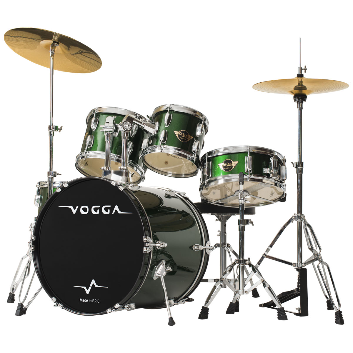 Bateria Acústica Bumbo 22 Polegadas Talent VPD924 Verde - Vogga