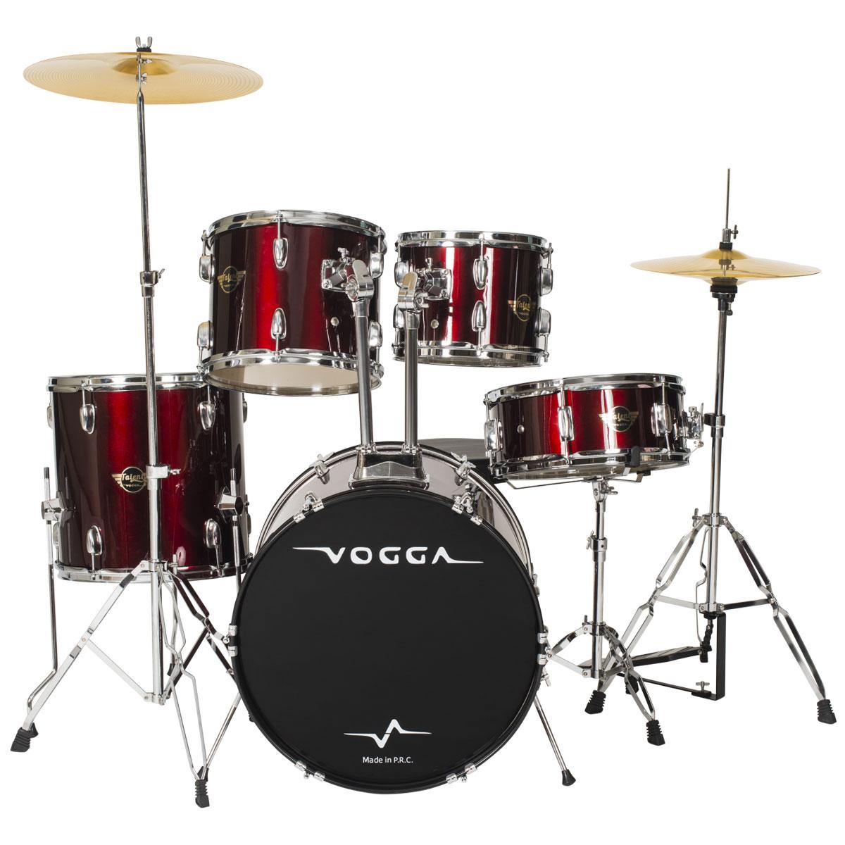 Bateria Acústica Bumbo 22 Polegadas Talent VPD924 Vinho - Vogga