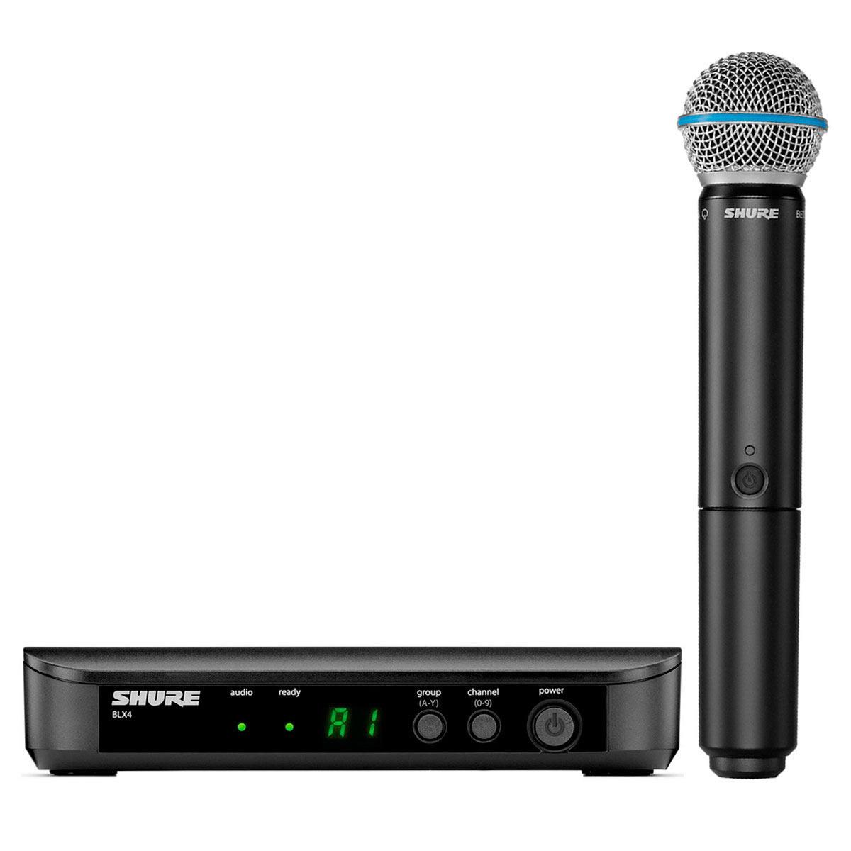 BLX24BETA58A - Microfone s/ Fio de Mão BLX 24 BETA 58A - Shure