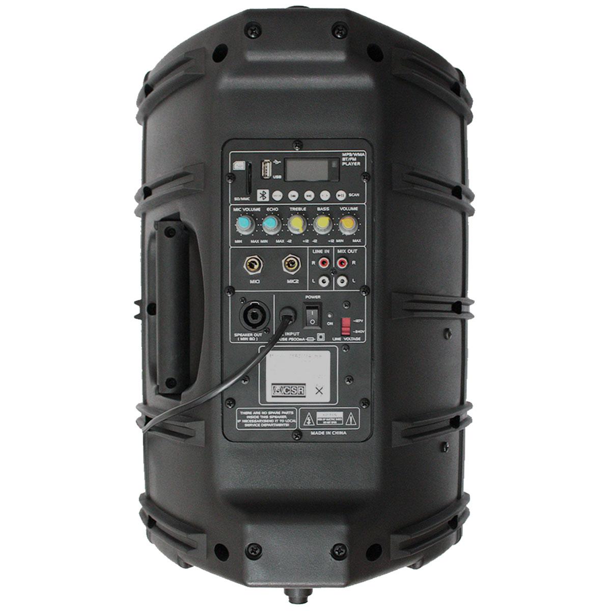 Caixa Ativa 100W c/ Bluetooth e USB CSR 2500A USB BT - CSR